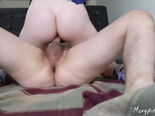Tiny blonde schoolgirl gets abused by big cock until massive creampie