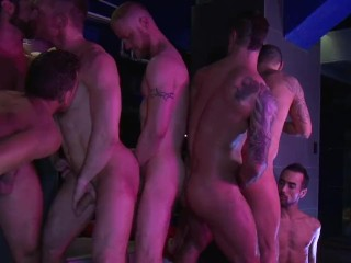 Group Sex – Nine-Man Bareback Orgy