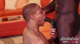 Almighty Lipz Makes a Big Black Dick Cum Hard - BreedItRaw