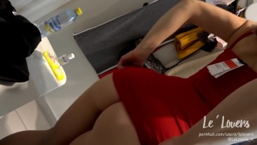 TATTOOED BLONDE GIRL SUCK DICK AND FUCK IN SHOPPING MALL (DRESSING ROOM)