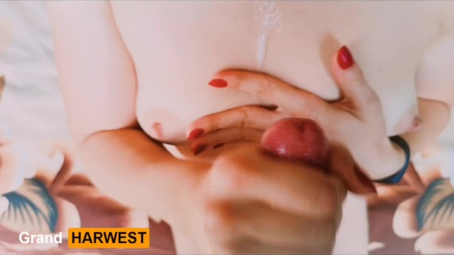 GrandHarwest. POV Handjob with Cumming on to tits