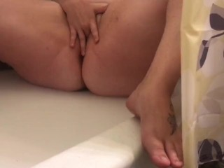 BBW wife plays with herself In shower