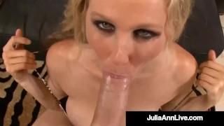 Busty Horny Cougar Julia Ann Gets Her Magic Muff Plowed!