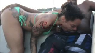 Screen Capture of Video Titled: CHARLIEBHUSTLE FUCKS ON FRIENDS BOAT