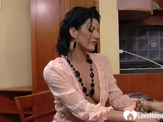 Sensational MILF teases while working at the office