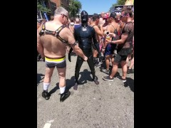 Hear me cum in public in latex at Dore Alley Fair 2019 (Folsom)
