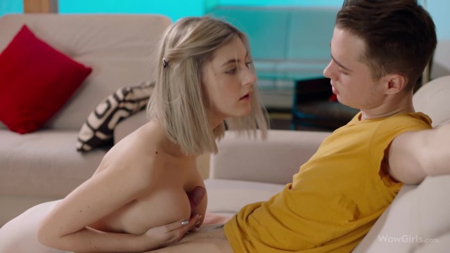 WOWGIRLS Eva Elfie Impresses the Nerd with Tits Fuck and all of her Skills!
