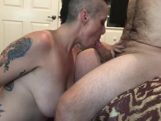 MILF gets Pussy Eaten Fucked Gives BJ and gets Cum on Tits Nikki Sequoia