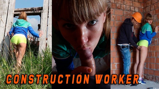 Construction worker babes naked She was caught by a construction worker when she masturbated - en subtitles