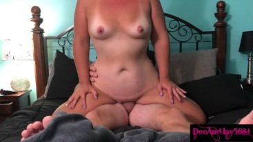 Mom 69s and reverse cowgirls for dripping creampie