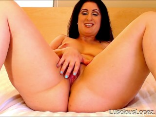 Luscious Lopez pussy spread missionary