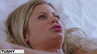 TUSHY Riley Steele Loves Her Husband But Loves Gaping More