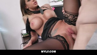 MYLF – Sexy Tan Milf Fucks Her Boss For a Raise