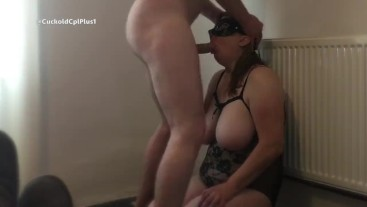 Cheating UK Milf Mouth Fucked by Stranger as His Friend Watches