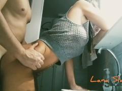 greek milf bathroom anal fuck @Lana Slave