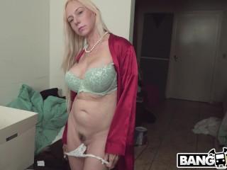 BAOS Blonde MILF Stepmom Catches Me With Panties Fucks Me
