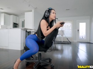 RealityKings Katrina Jade gets destructed by a dick during an online game Katrina Jade
