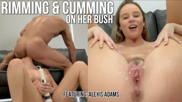 busty amateur cums being rimmed