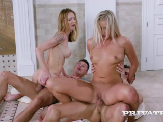 Belle Claire Cayla Lyons sharing big dicks in a Pool Orgy Belle Claire, Cayla Lyons