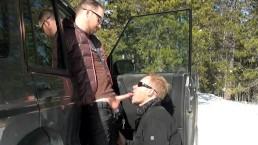 Cum Club: Land Rover 4x4 Crash + Swallowing a Big Cum Load Outdoors