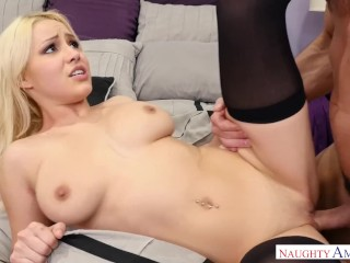 Naughty America – Petite Kylie Page fucking in the bed