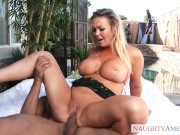 Naughty America - Abbey Brooks fucking in the outdoors