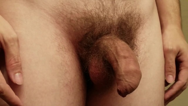 Flaccid small penis - Close up: small uncut flaccid penis becomes a big hard 6.5 inch cock