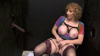 Busty Cougar Sara Jay Makes A BBC Cum - Gloryhole