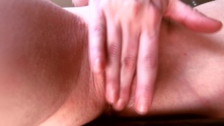 Eating Teen Pussy Like a Juicy Peach till She Squirts All Over the Floor