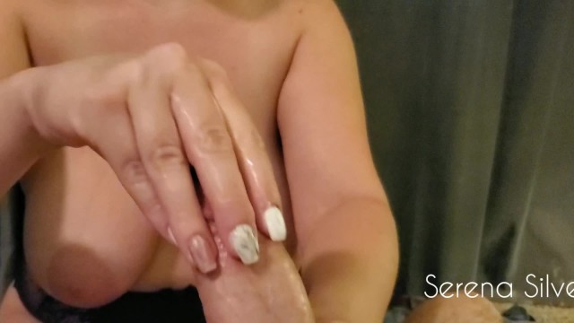 Klixen orgasm denial Serena silver-milking the cum out of his prostate with tease and denial