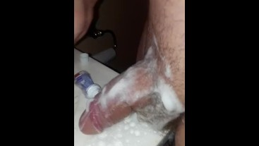 Femboy Rubs Her Giant Clit With Colgate Toothpaste Part 1