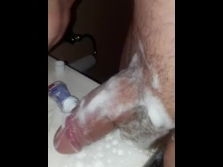 Femboy Rubs Her Giant Clit With Colgate Toothpaste Part