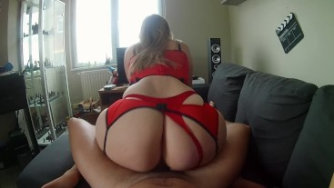 I'm still fucking my PAWG neighbor with her sexy red lingerie!