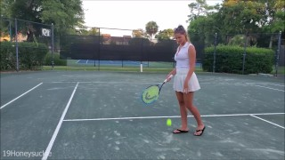 Female tennis player breast reduction