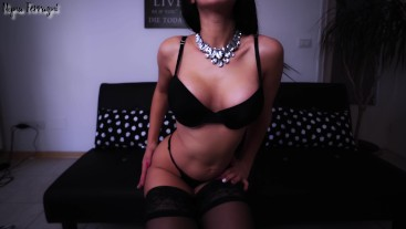 Young white secretary daydreams a BBC - wears&loves black
