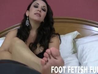 Femdom Foot Fetish And POV Foot Worshiping Porn