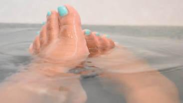 Candid Feet: Enjoying a Hot Bath