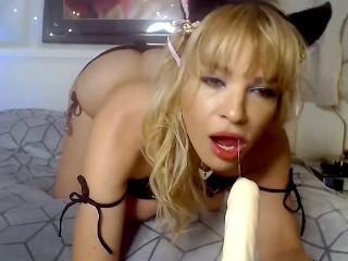 CamSoda – Dana DeArmond Sexy MILF Kitten Costume Masturbation