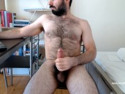 Hairy Greek Bear, stokes and cum