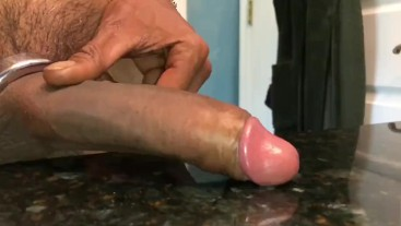 Cumshot On The Counter