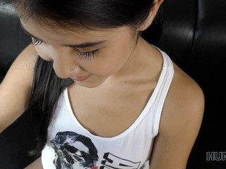 Dress me now undress me sex with cute niki shu in the woods petite teenager young