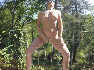 Pissing and Bathing Outdoors Near a Public Road