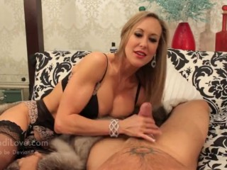 Brandi Love Milf Brandi love stroking cock for new fur coat Brandi Love