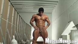 Muscle Worship session of a Monster Bodybuilder with a beefy butt