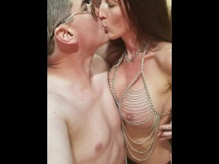Latex & chains spanked & fucked redhead (13 Aug 2019)