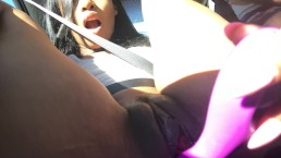 Aliya Masturbates in Public in the Car