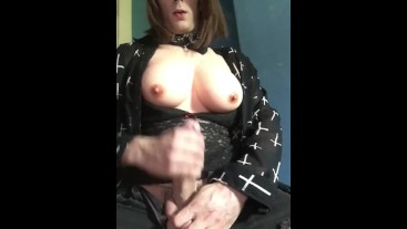 Big titty slut strokes cock till cumshot