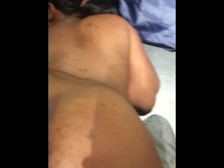 Fat ass with a creamy push taking dick