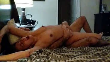 Pretty moaning soccer mom amazing fuck and orgasm