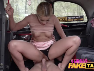 Female Fake Taxi Sweet Cherry Kiss fucks the hunky footballer